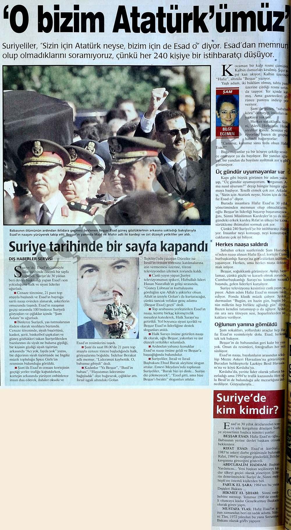 'O bizim Atatürk'ümüz'