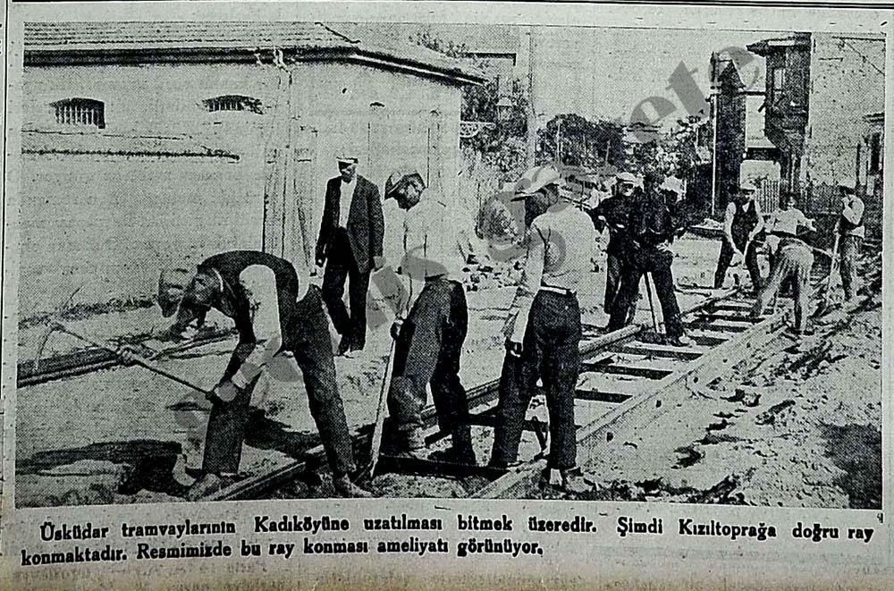 Üsküdar tramvayının Kadıköyüne uzatılması bitmek üzeredir