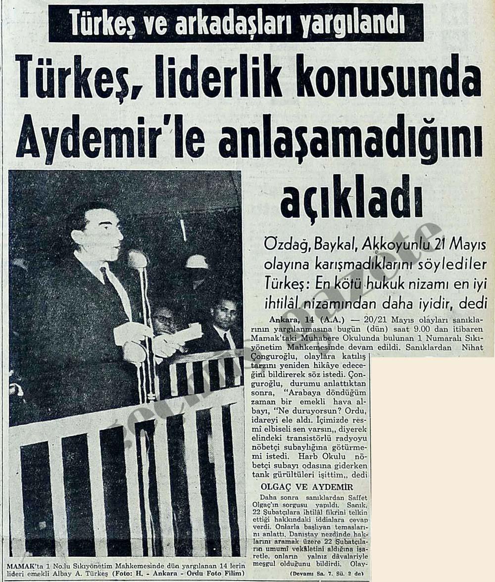 Türkeş ve arkadaşları yargılandı