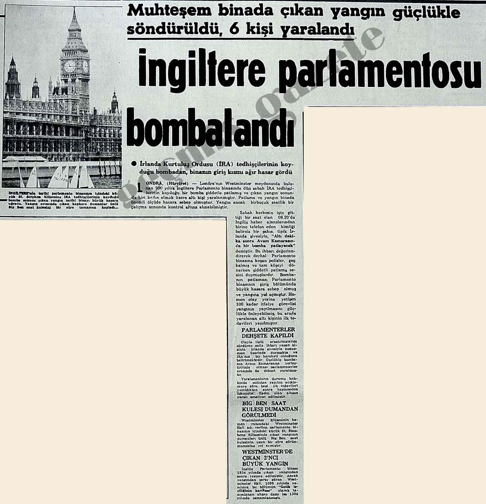 İngiltere parlamentosu bombalandı