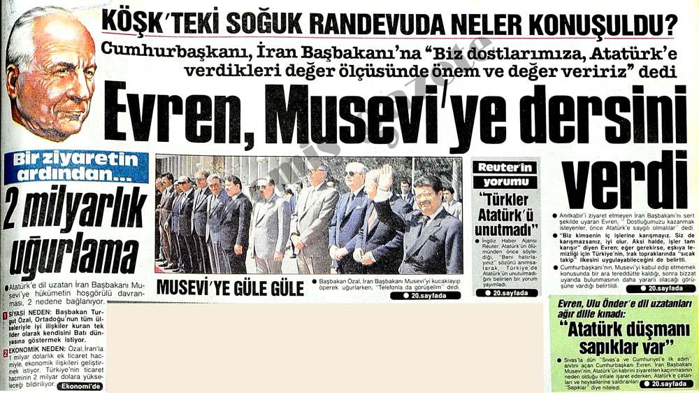 Musevi'ye güle güle