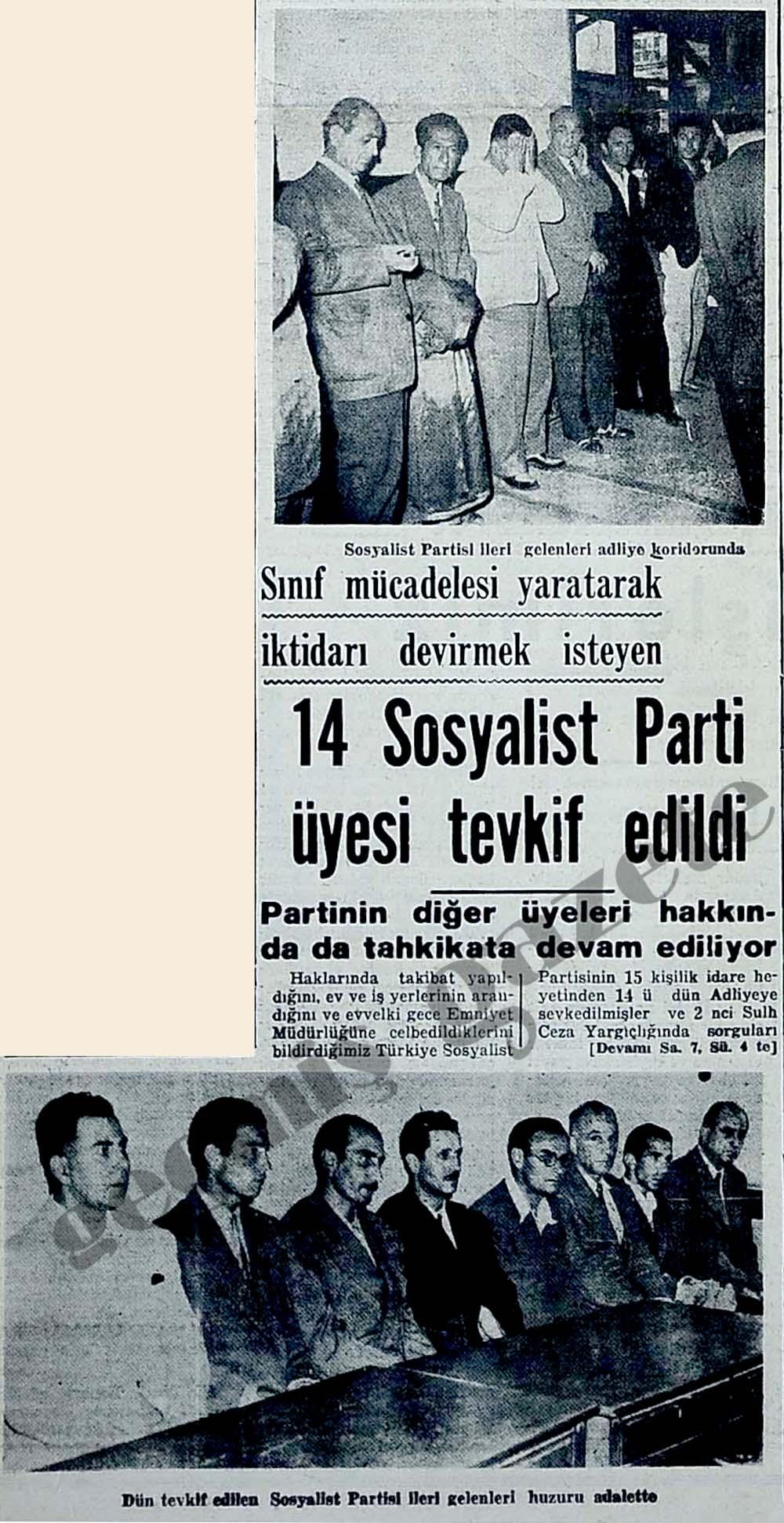 14 Sosyalist Parti üyesi tevkif edildi