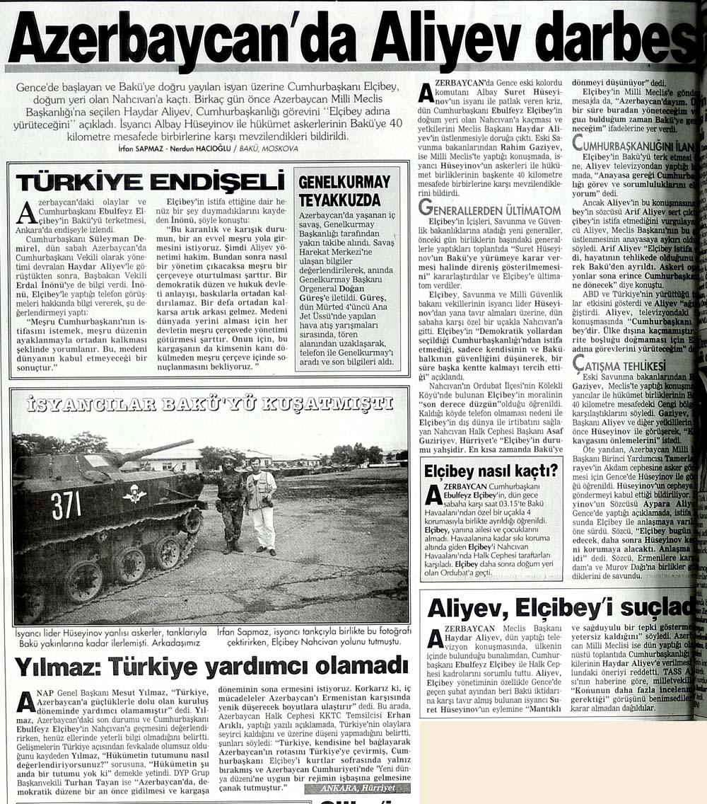Azerbaycan'da Aliyev darbesi