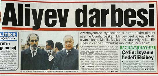 Azerbaycan'da Aliyev darbesi