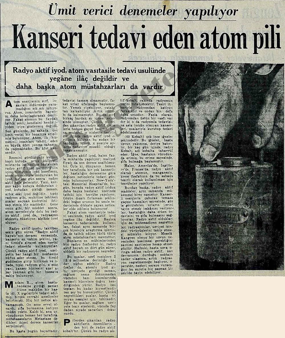 Kanseri tedavi eden atom pili