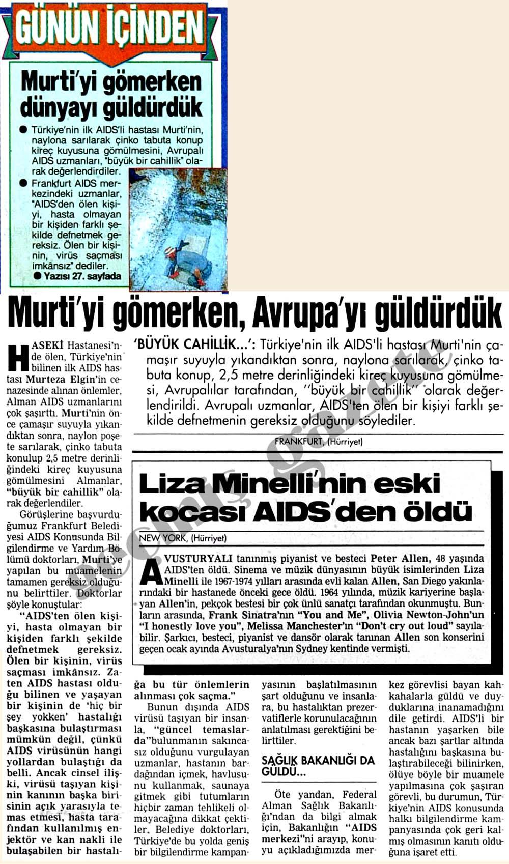 Murti'yi gömerken, Avrupa'yı güldürdük