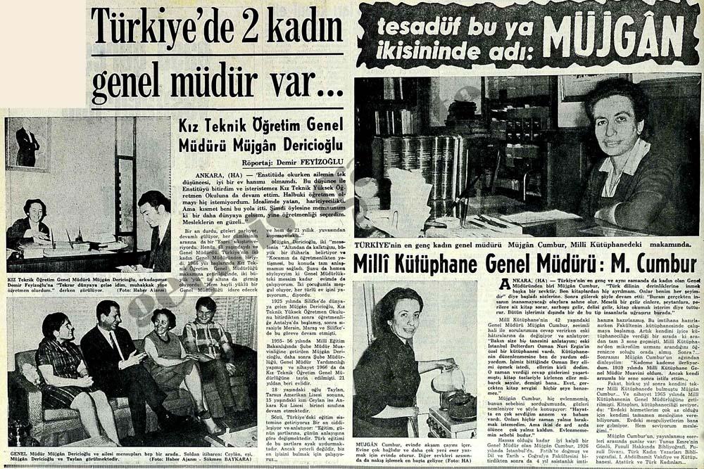 Türkiye'de 2 kadın genel müdür var...