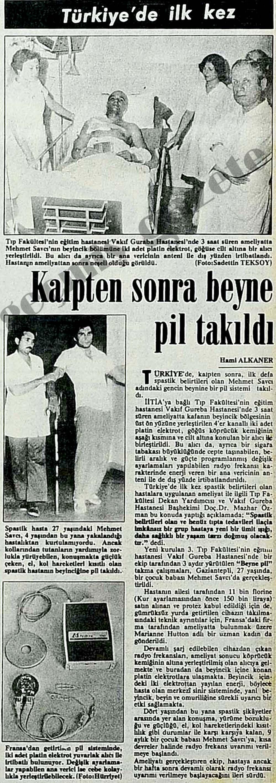 Türkiye'de ilk kez kalpten sonra beyne pil takıldı
