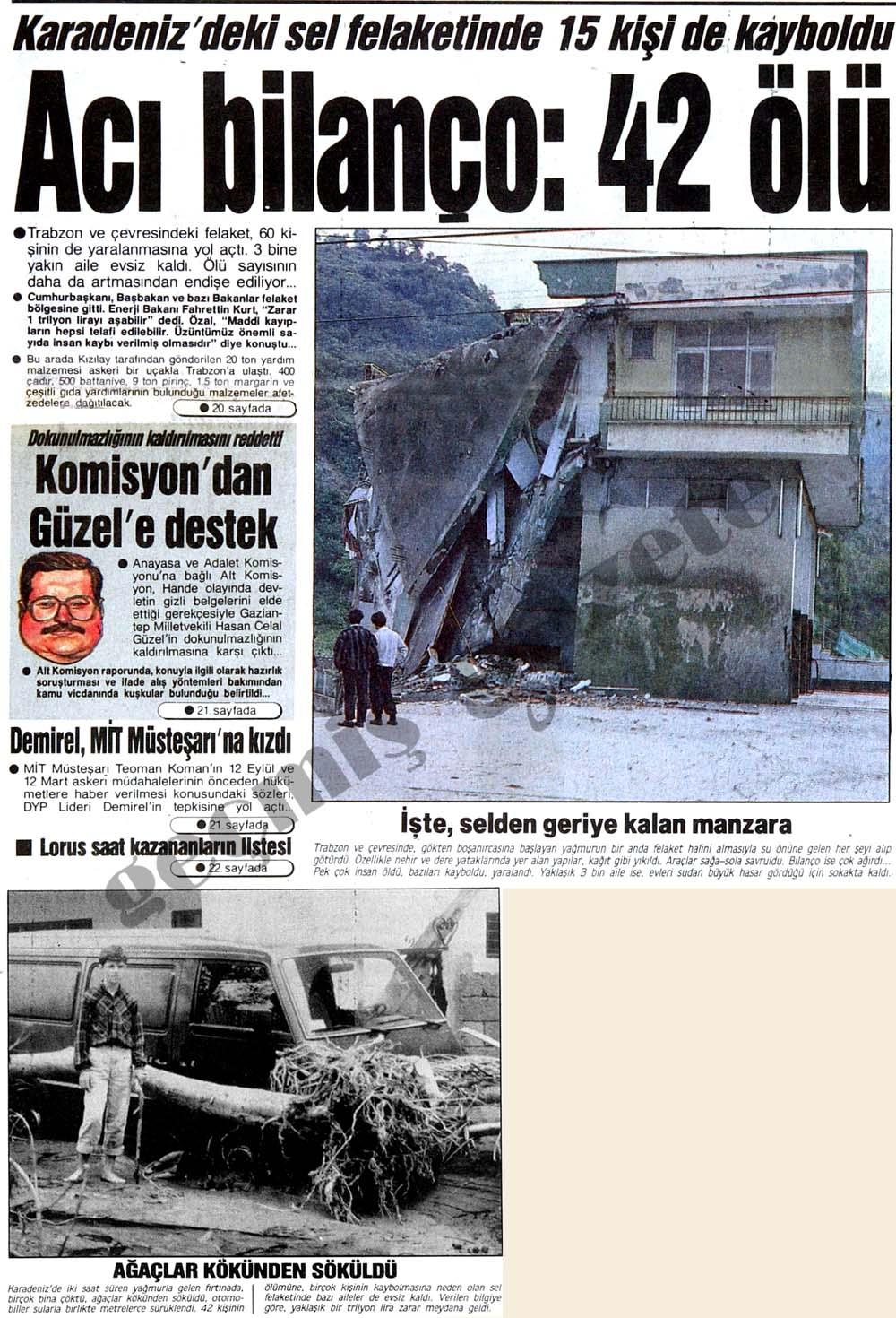 Karadeniz'deki sel felaketinde acı bilanço: 42 ölü