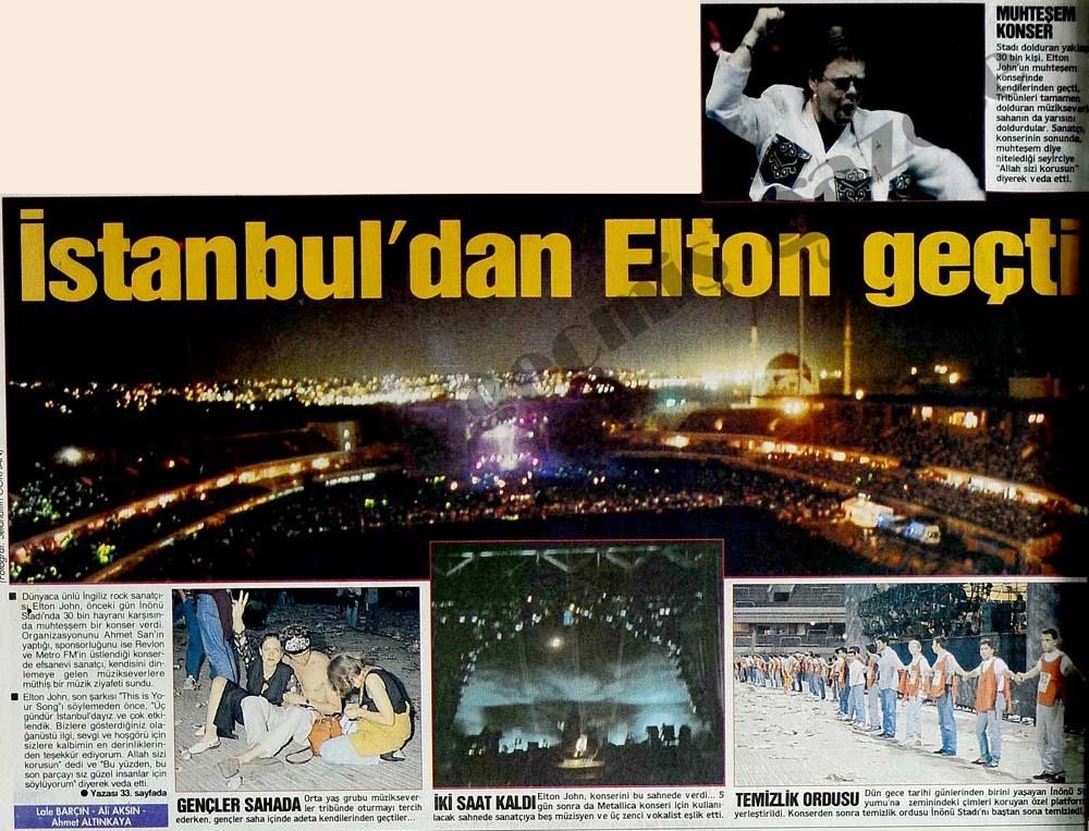 İstanbul'dan Elton geçti