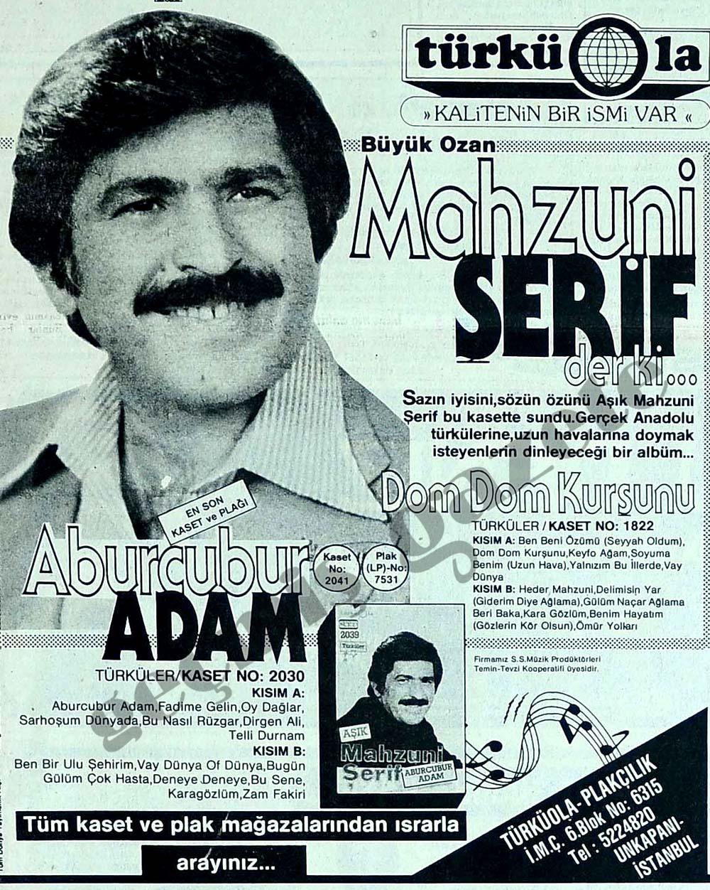 Büyük Ozan Mahzuni Şerif der ki...