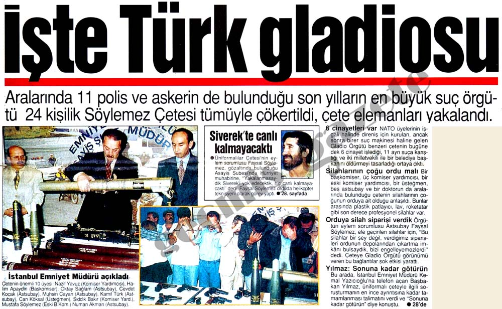 İşte Türk gladiosu