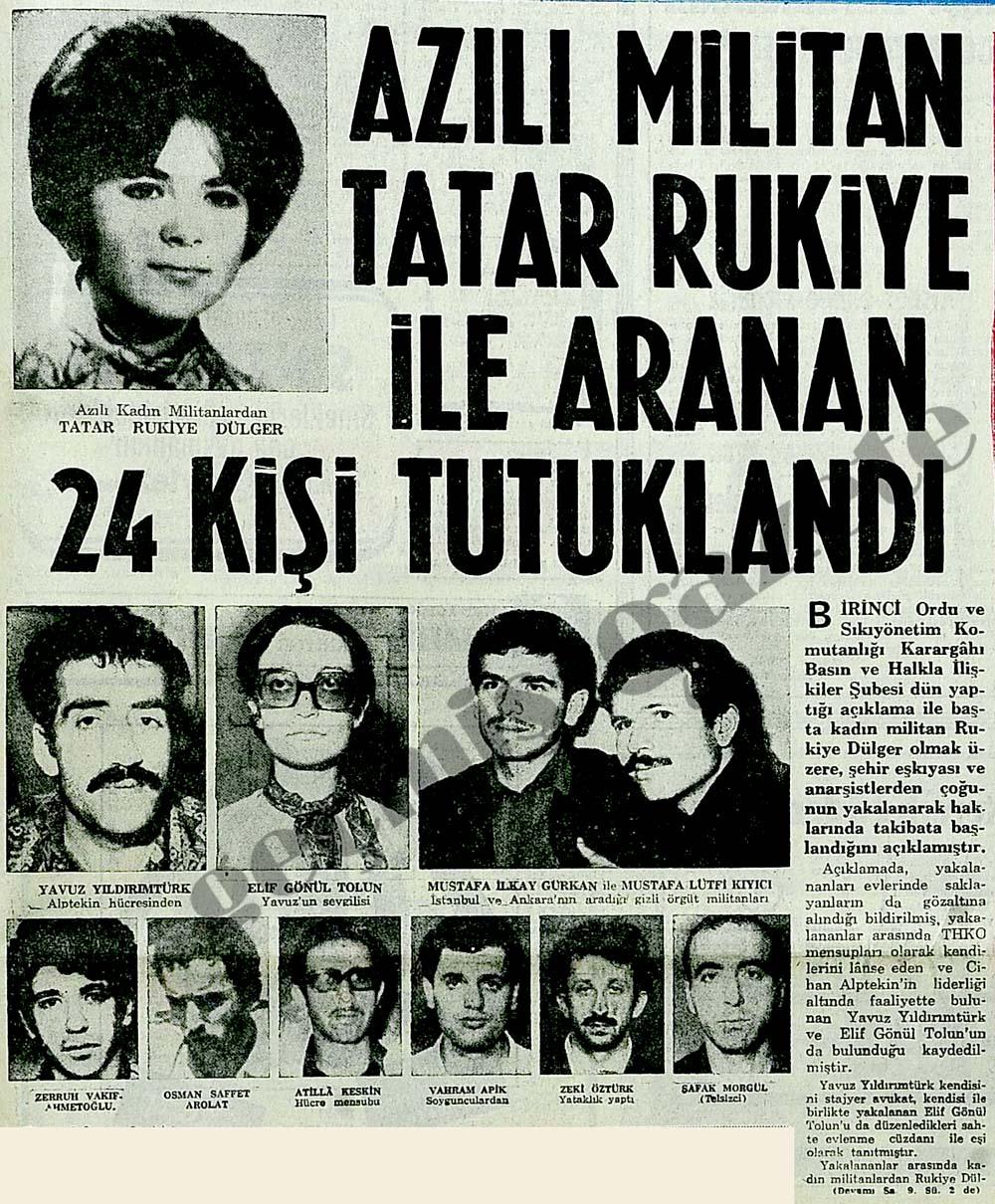 Azılı militan Tatar Rukiye ile aranan 24 kişi tutuklandı