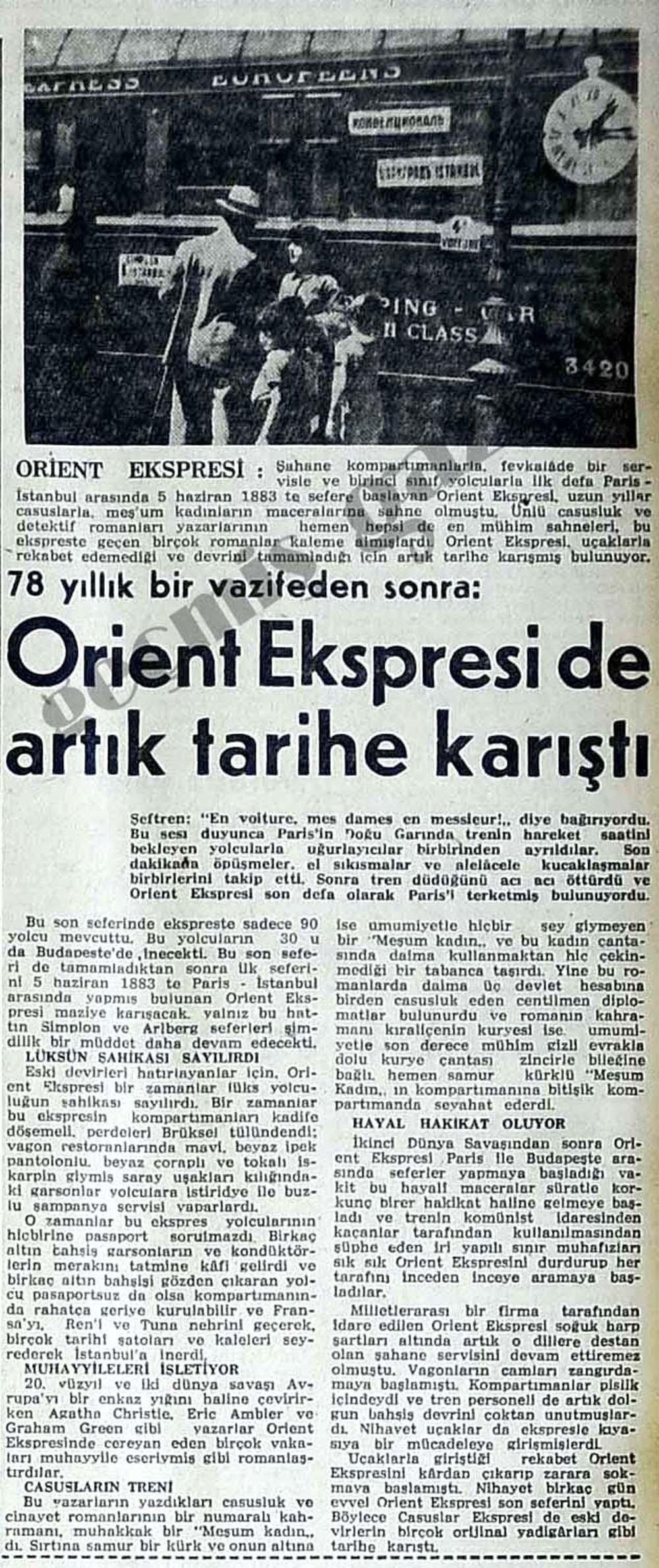 Orient Ekspresi de artık tarihe karıştı