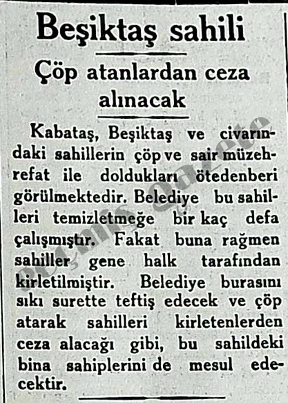 Beşiktaş sahili: Çöp atanlardan ceza alınacak