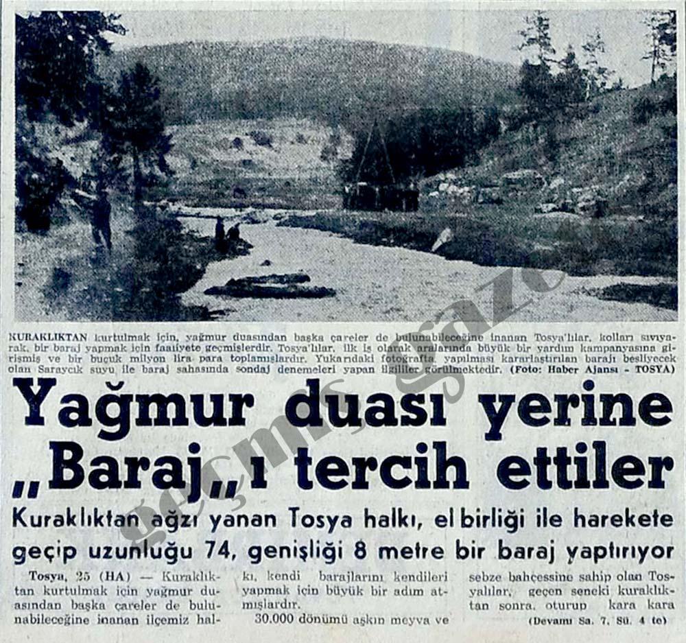 """Yağmur duası yerine """"Baraj""""ı tercih ettiler"""