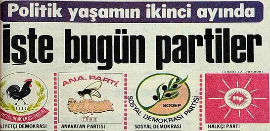 Politik yaşamın ikinci ayında partiler