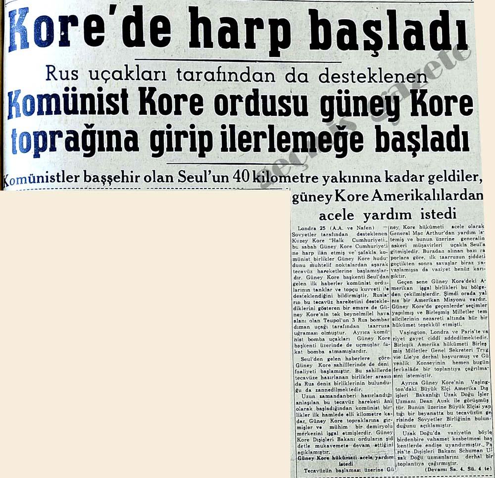Kore'de harp başladı