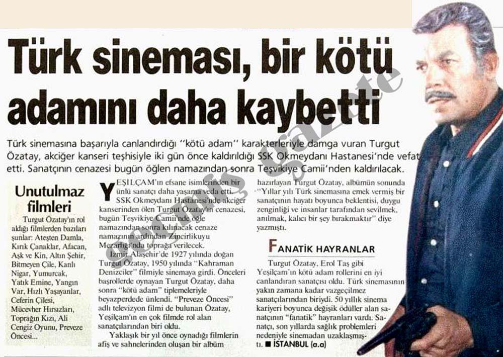 Türk sineması, bir kötü adamını daha kaybetti