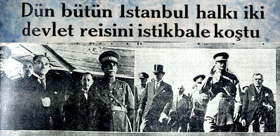 İstanbul halkı iki devlet reisini istikbale koştu