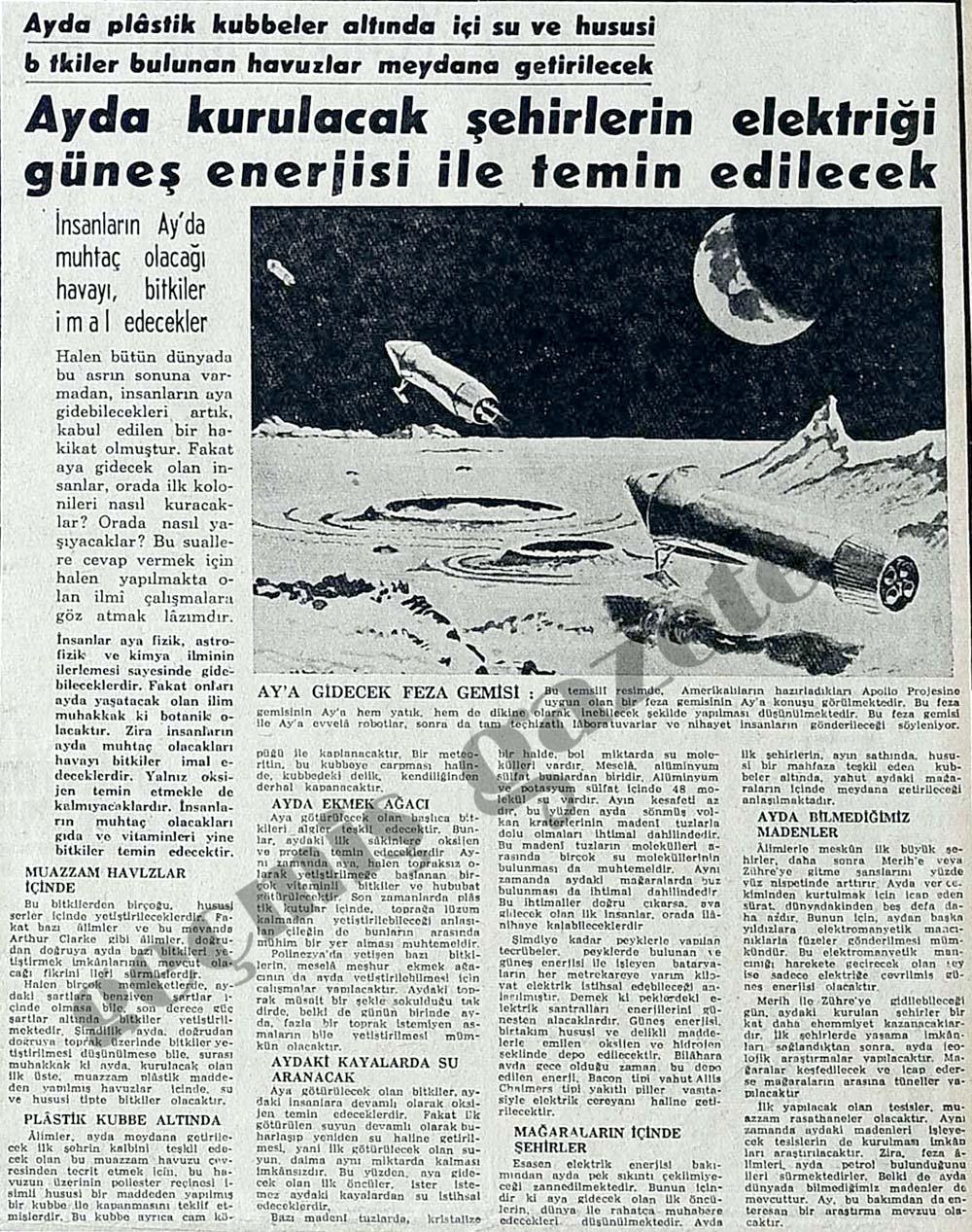 Ay'a gidecek feza gemisi