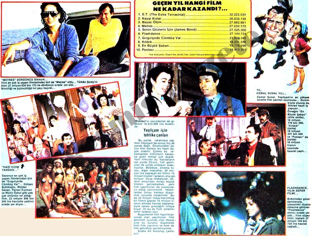 1983-84 sinema sezonunun bilançosu