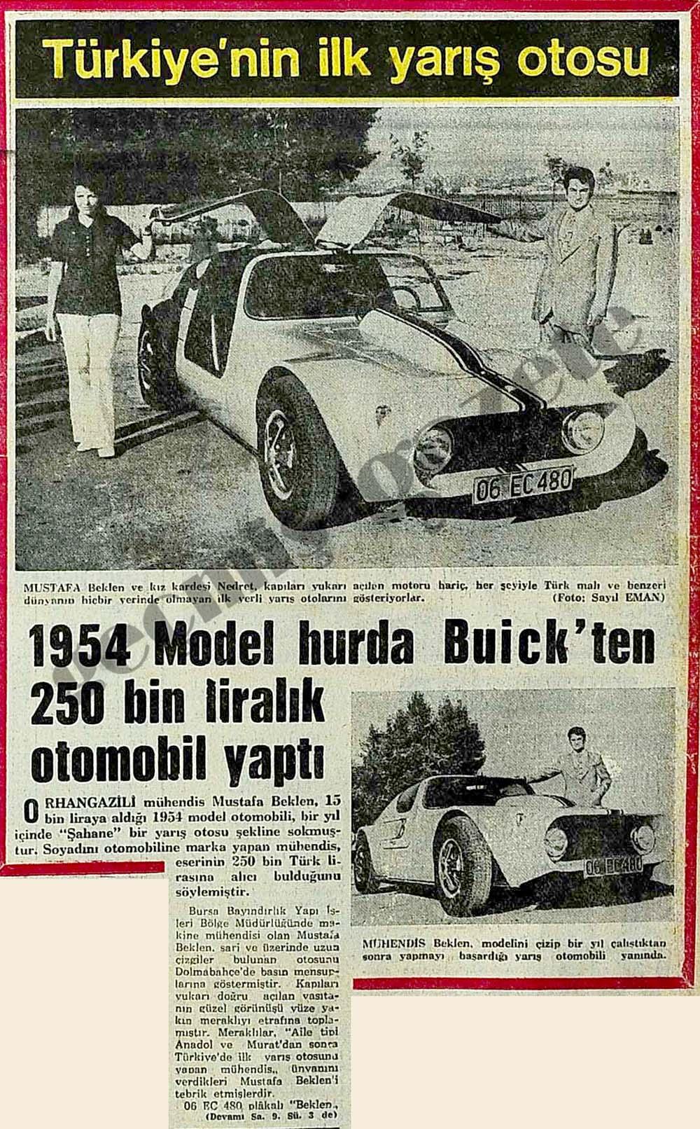 Türkiye'nin ilk yarış otosu