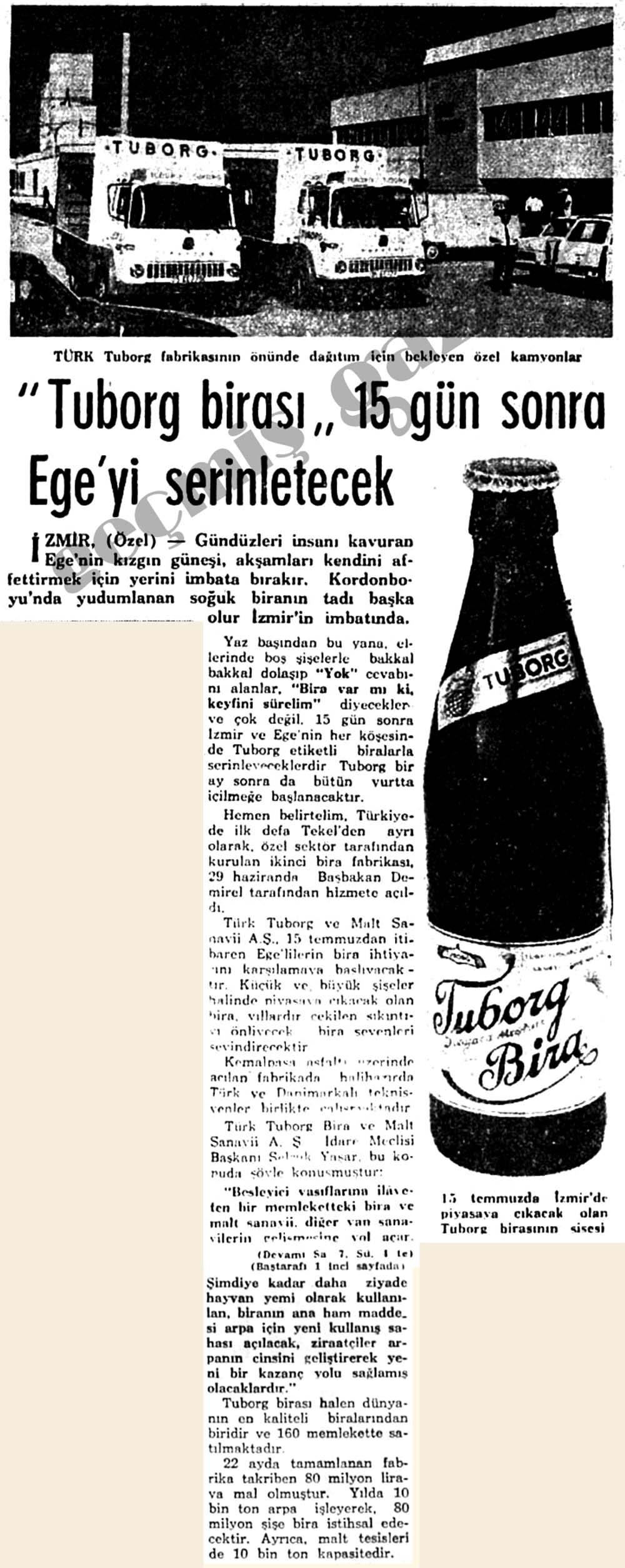 """""""Tuborg birası"""" 15 gün sonra Ege'yi serinletecek"""