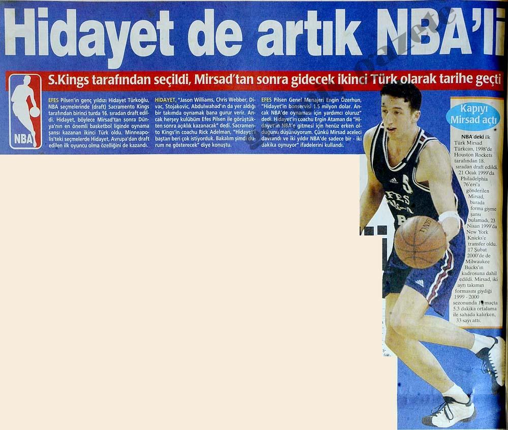 Hidayet de artık NBA'li