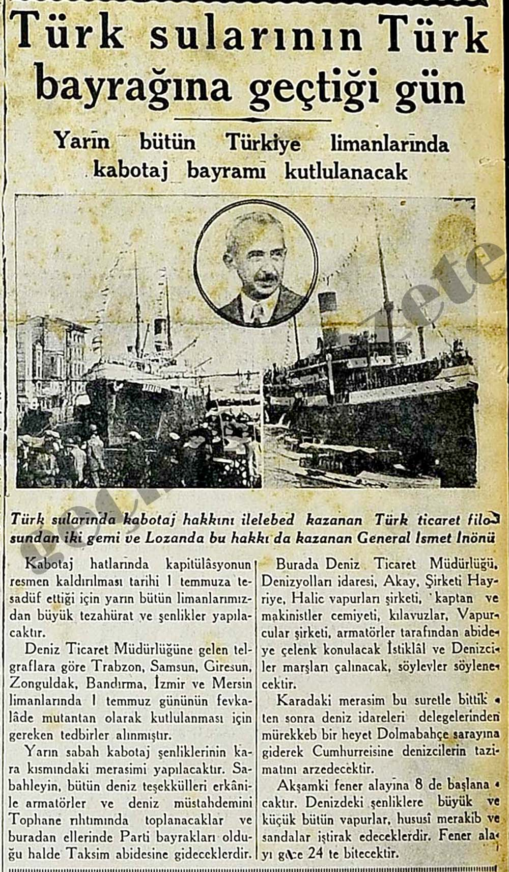 Türk sularının Türk bayrağına geçtiği gün
