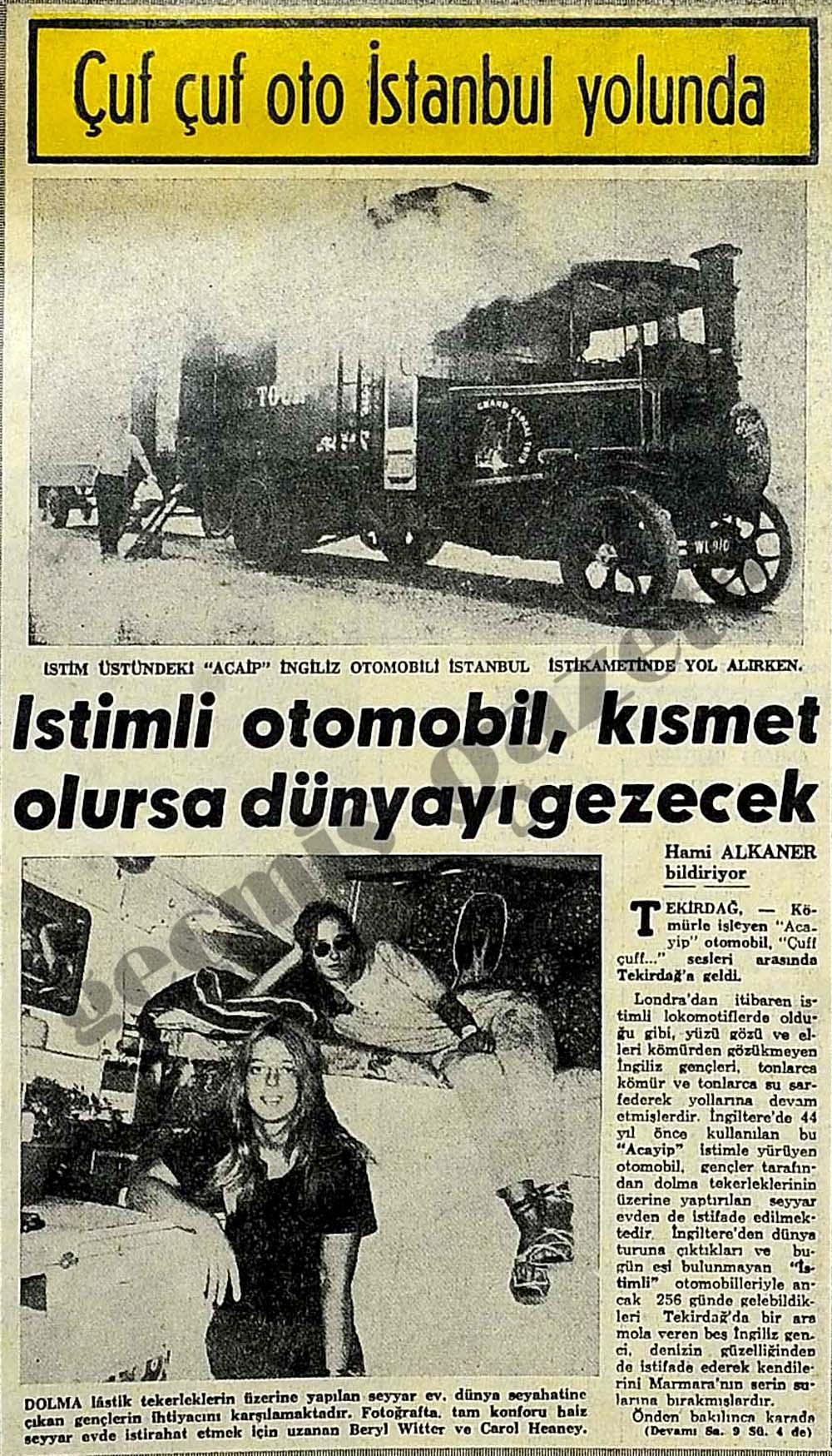 Çuf çuf oto İstanbul yolunda