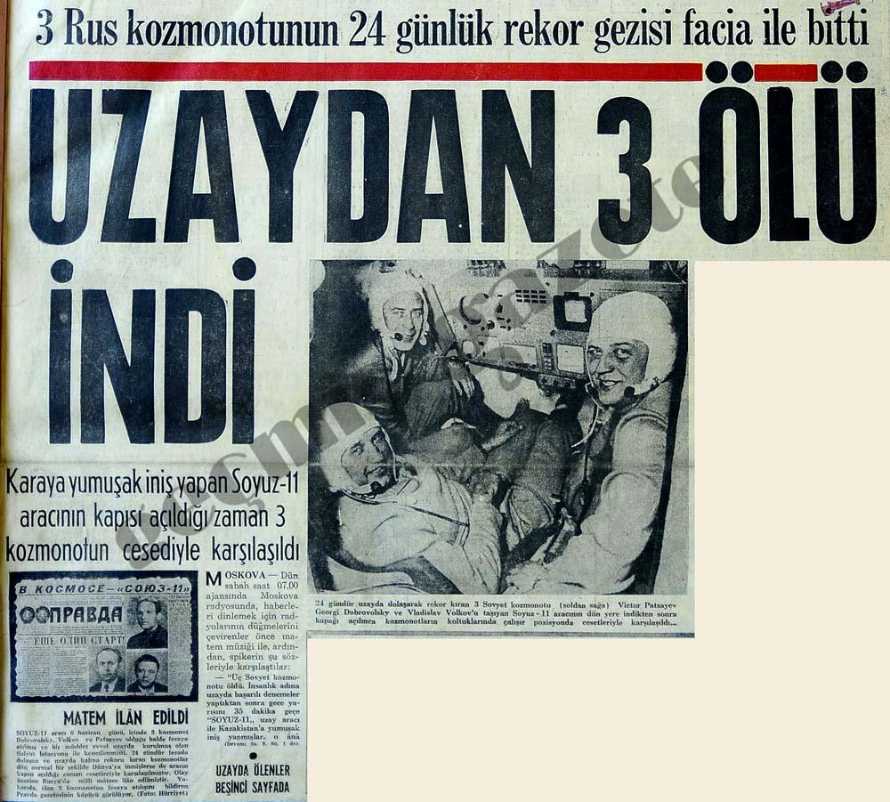 Uzaydan 3 ölü indi