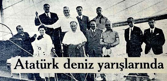 Atatürk deniz yarışlarına şeref verdiler