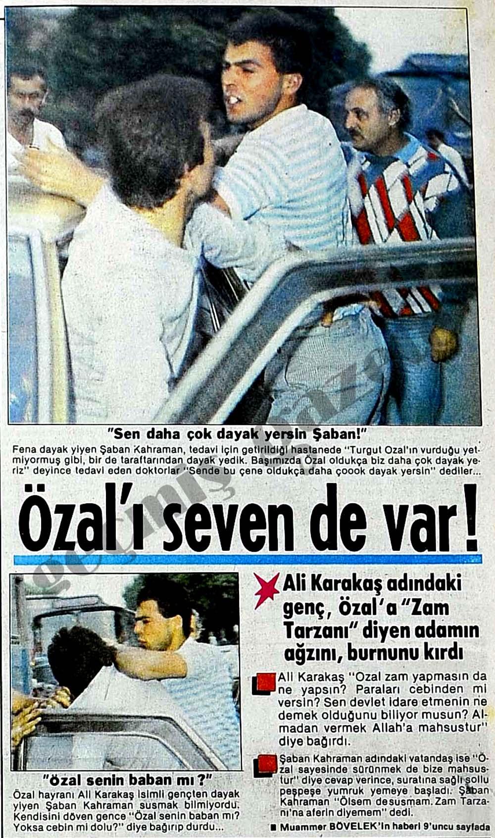 Özal'ı seven de var!