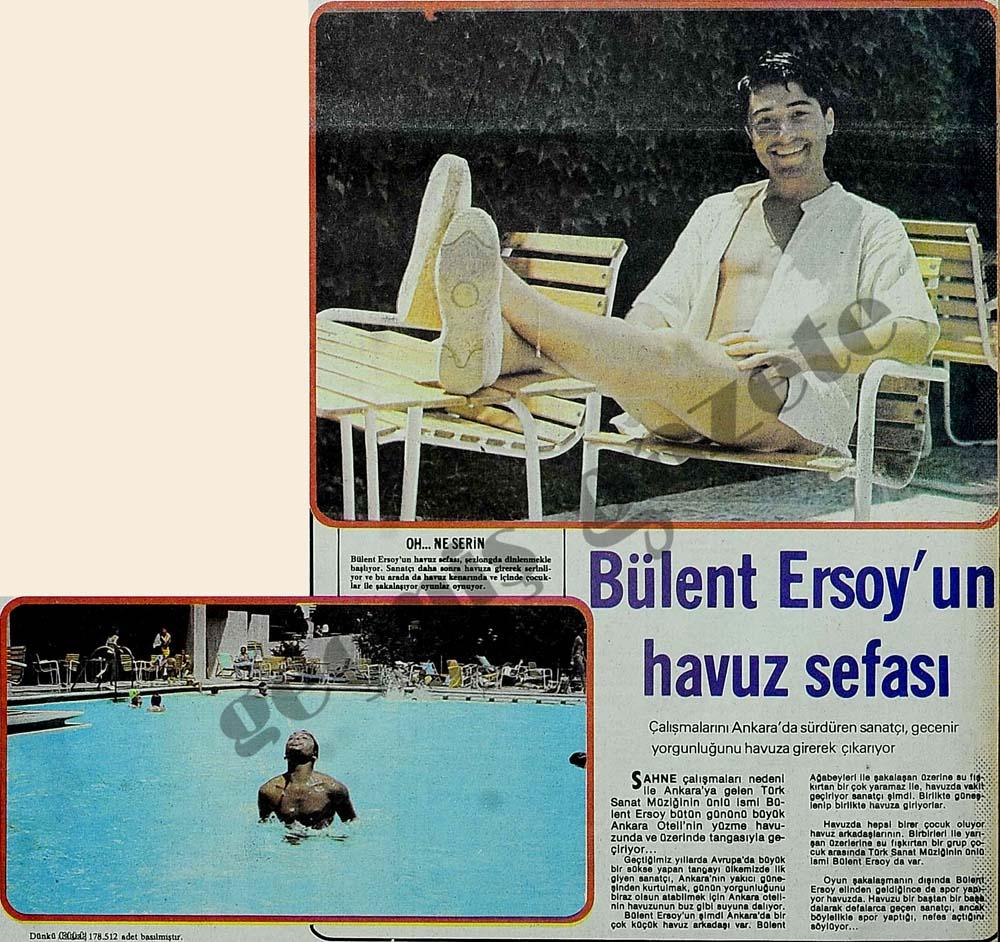 Bülent Ersoy'un havuz sefası