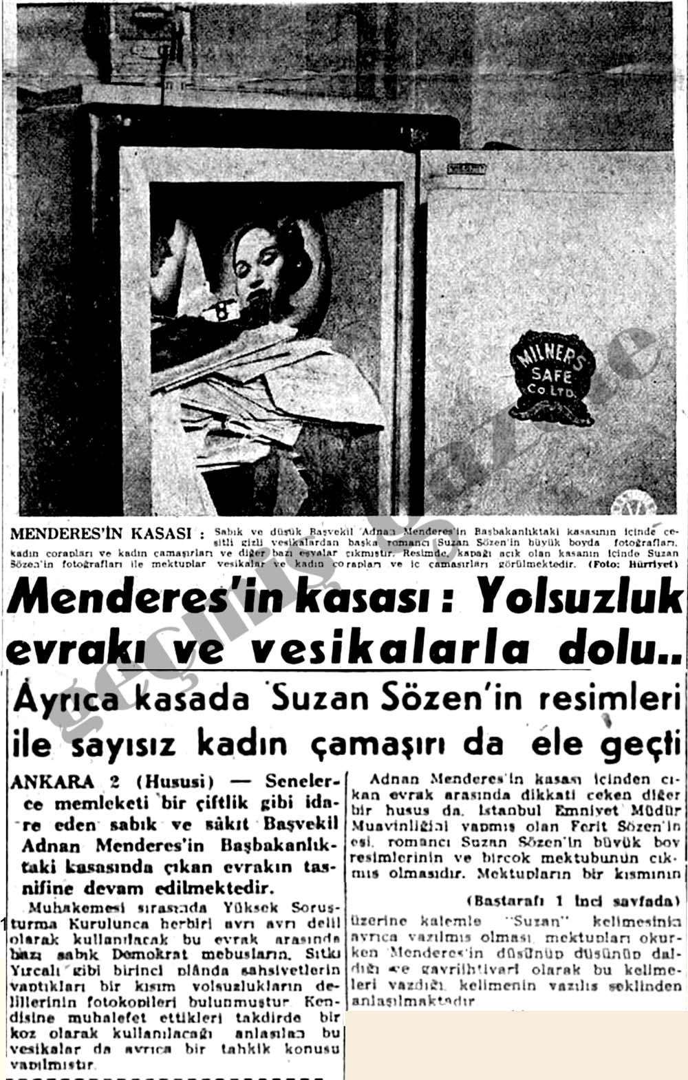 Menderes'in kasası: Yolsuzluk evrakı ve vesikalarla dolu..