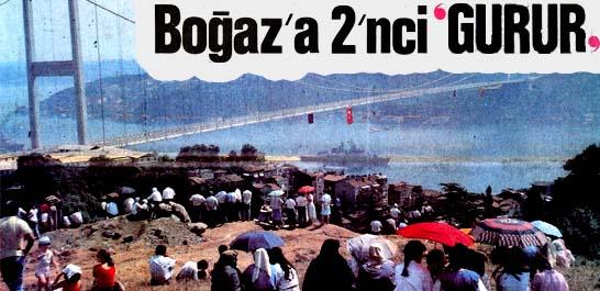 """7 ay erken bitirilen Fatih Köprüsü """"Şov""""la açıldı"""
