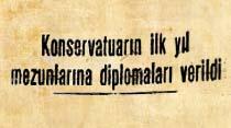 Konservatuarın ilk yıl mezunlarına diplomaları verildi
