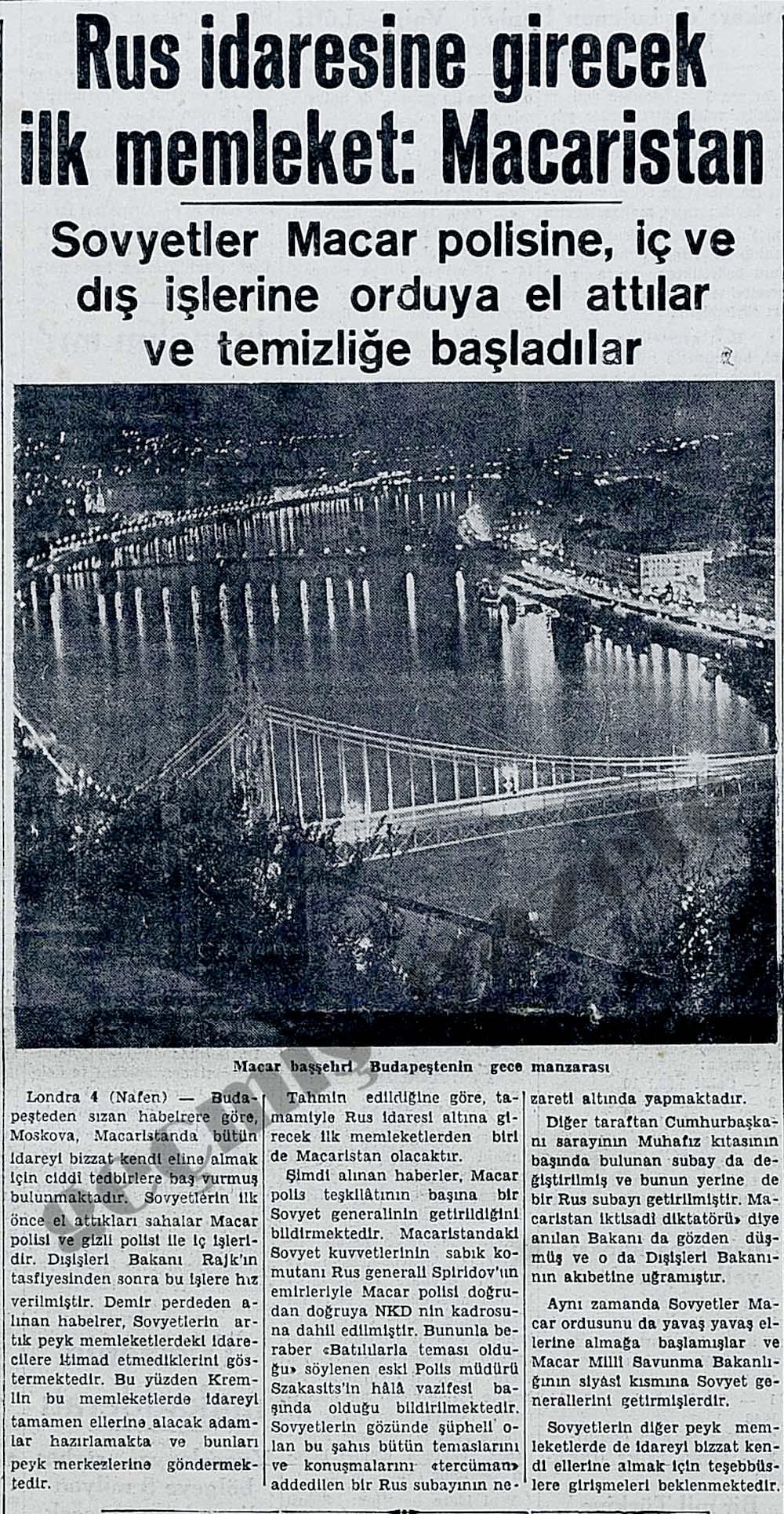 Rus idaresine girecek ilk memleket: Macaristan