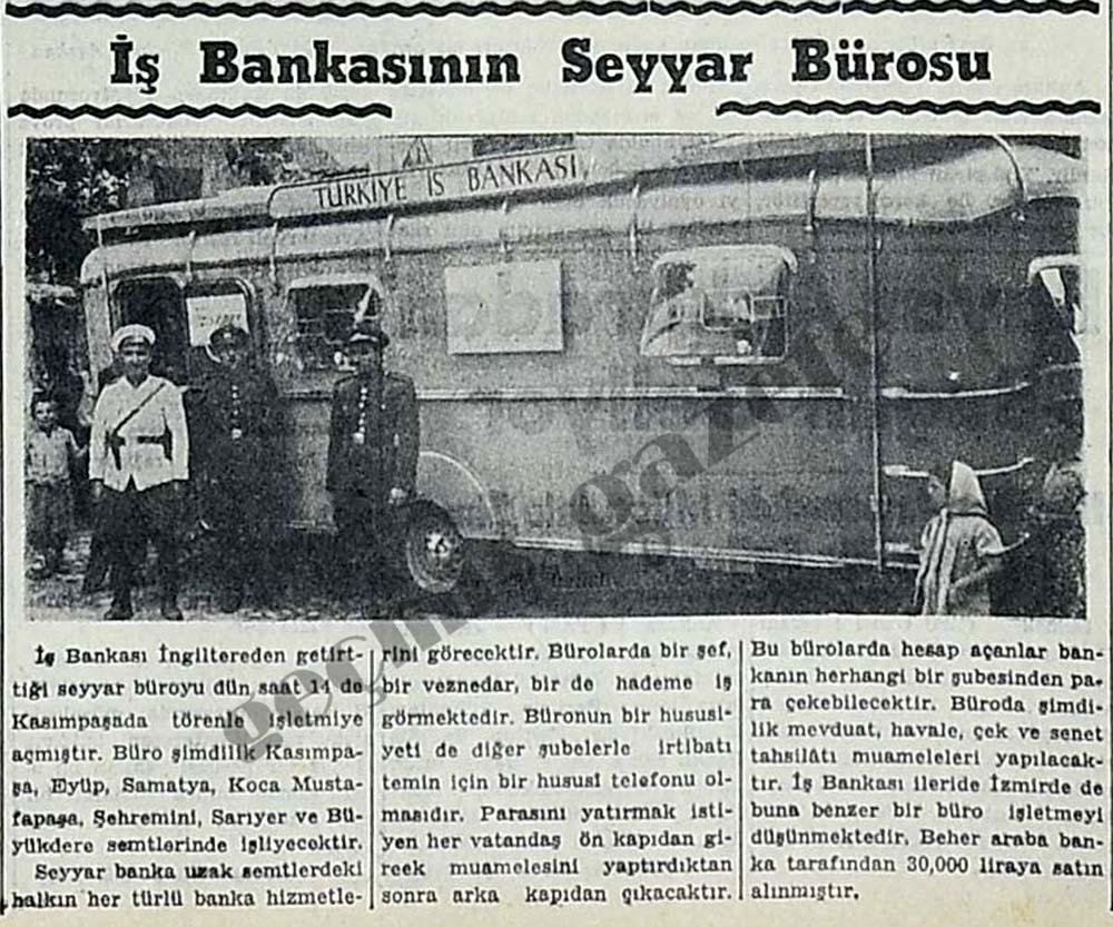 İş Bankasının Seyyar Bürosu