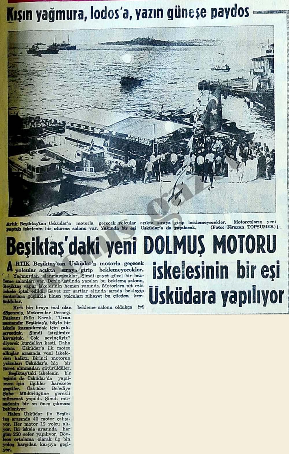 Beşiktaş'daki yeni Dolmuş Motoru iskelesinin bir eşi Üsküdara yapılıyor