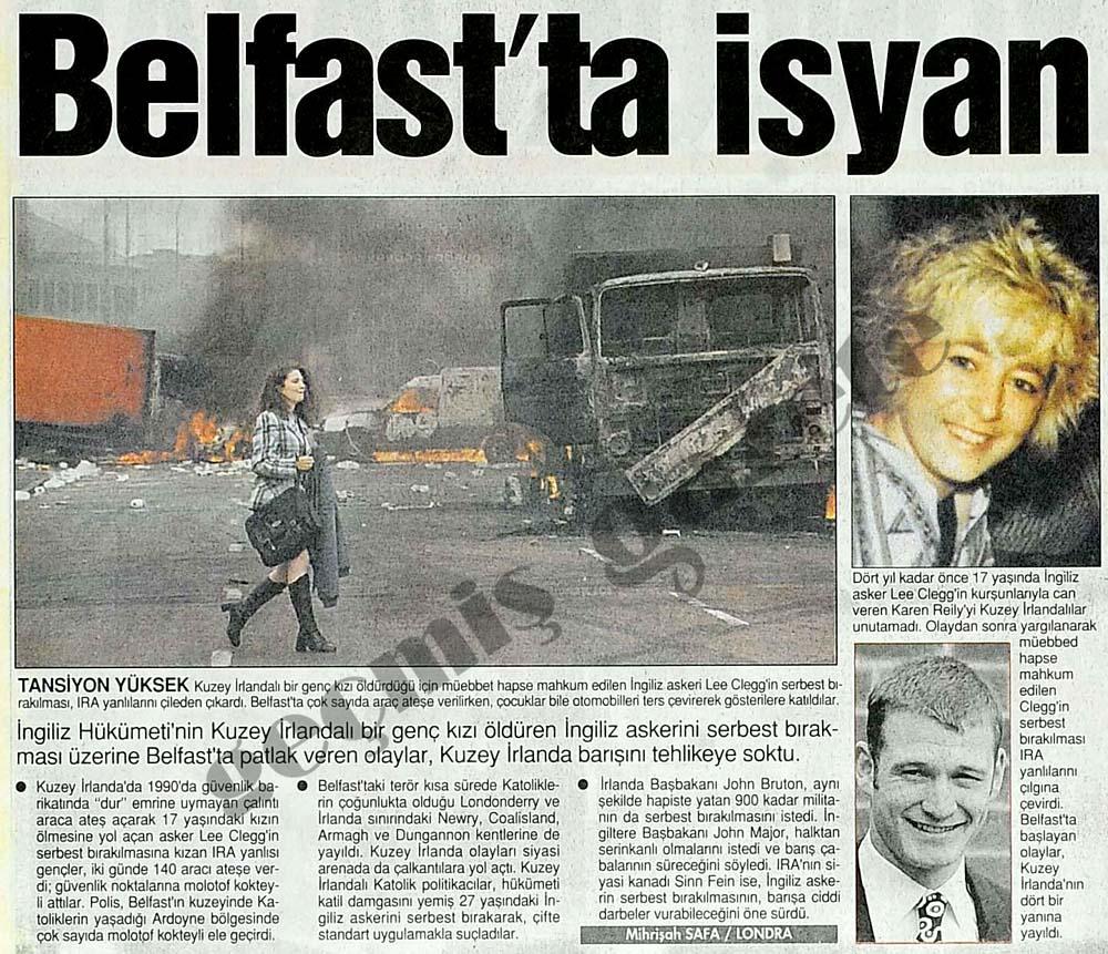Belfast'ta patlak veren olaylar, Kuzey İrlanda barışını tehlikeye soktu