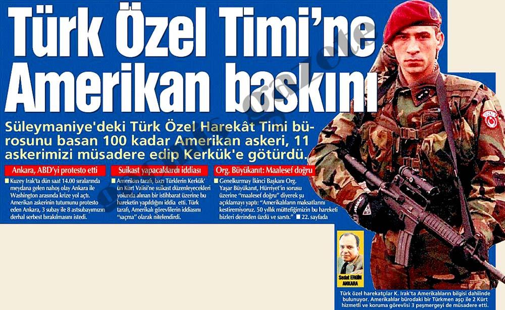 Türk Özel Timi'ne Amerikan baskını