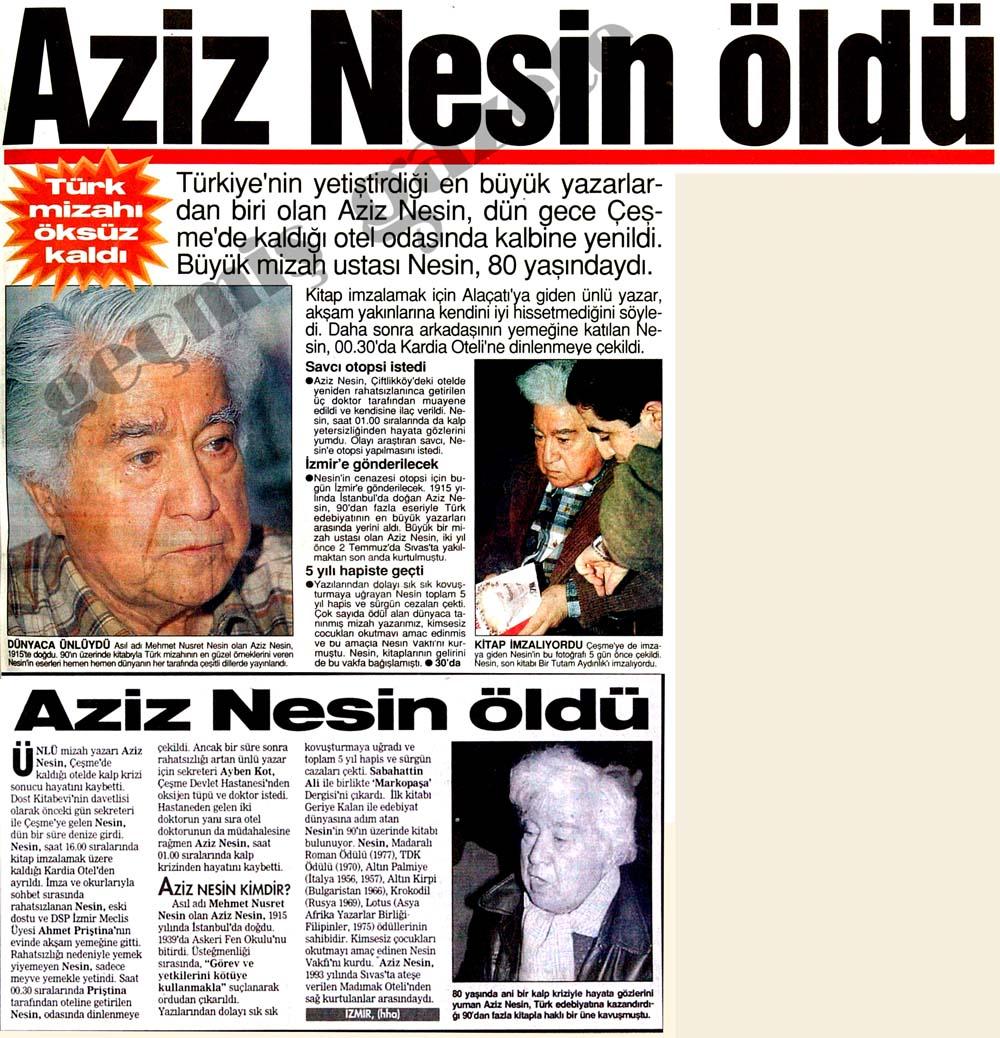 Türk mizahı öksüz kaldı