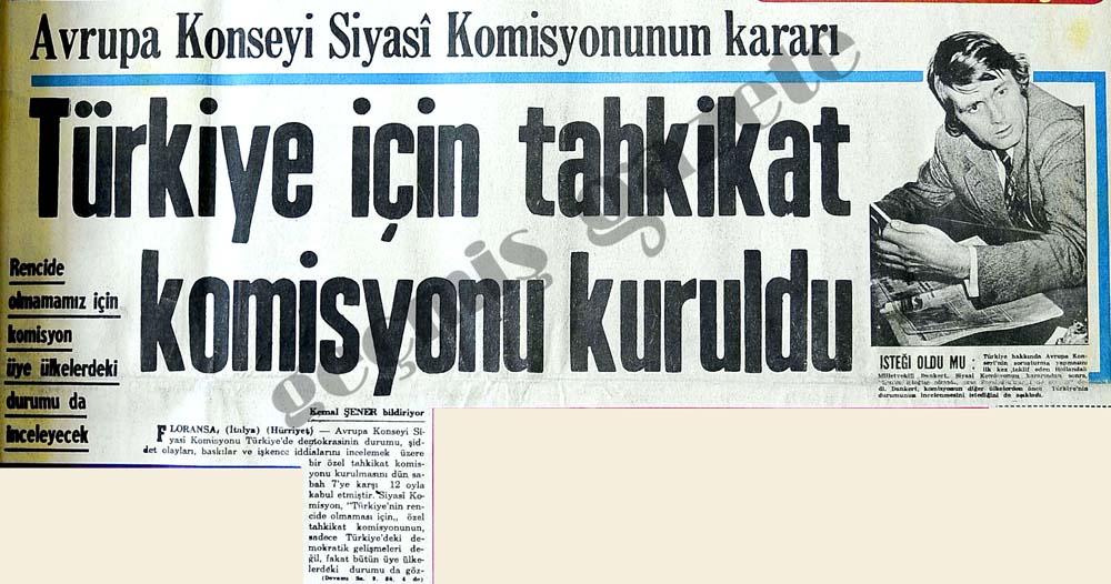 Türkiye için tahkikat komisyonu kuruldu