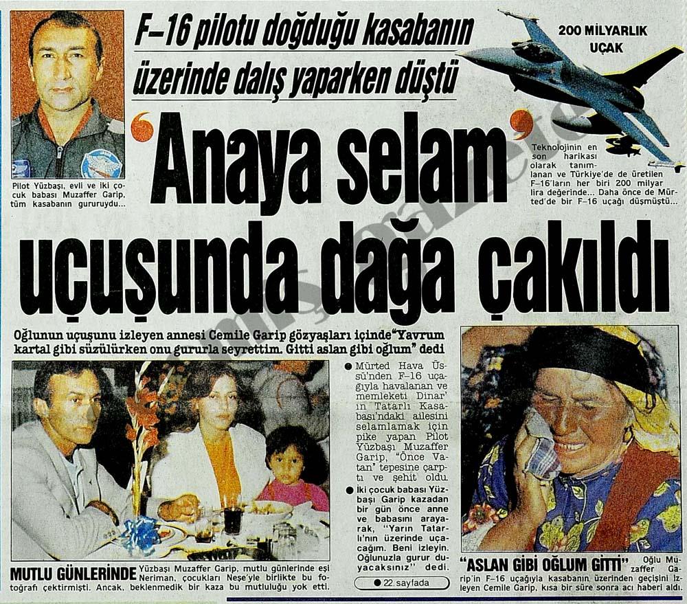 'Anaya selam' uçuşunda dağa çakıldı