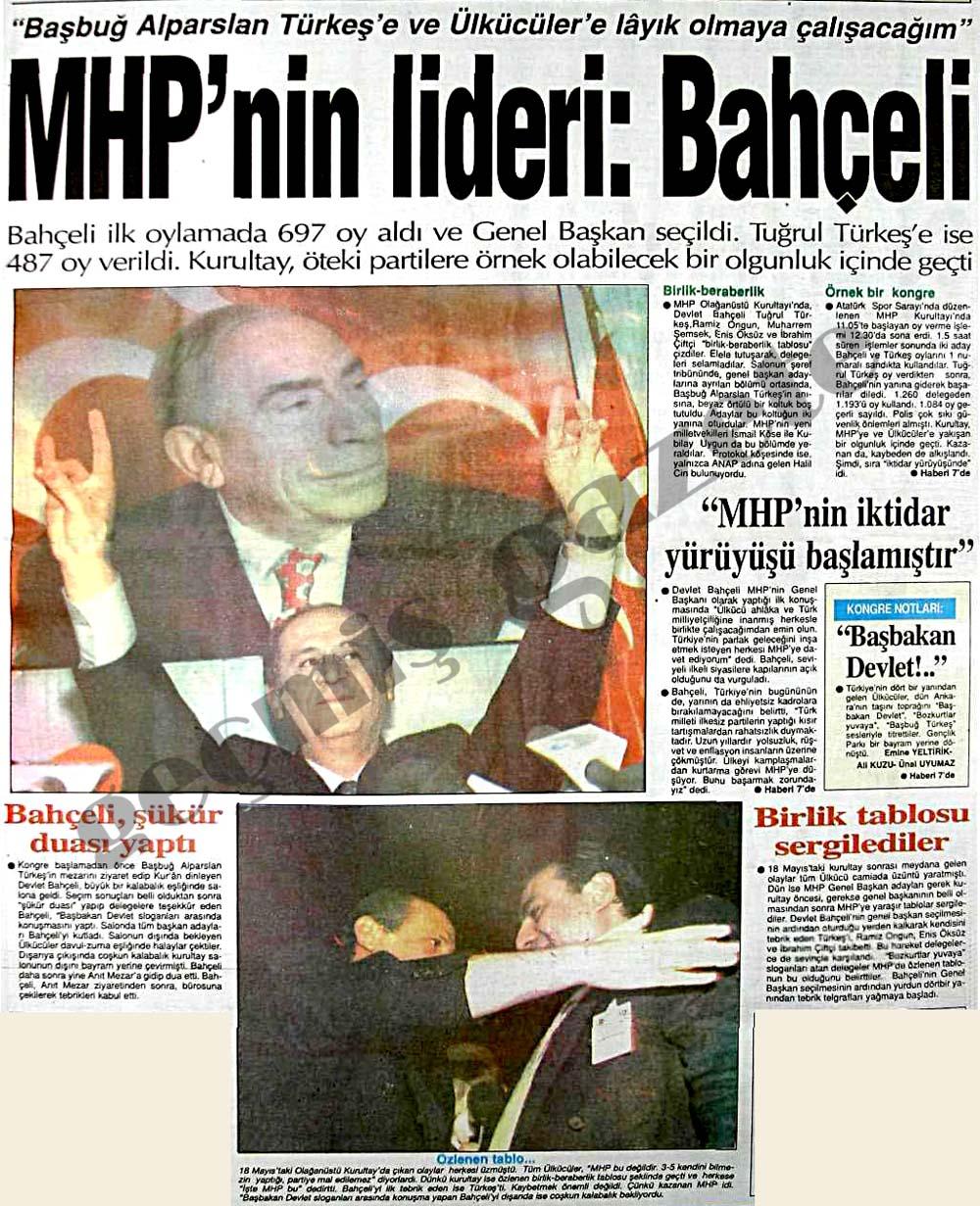 MHP'nin lideri: Bahçeli