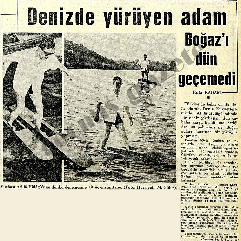 Denizde yürüyen adam Boğaz'ı dün geçemedi