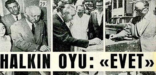 Türk Milleti Anayasa için kararını verdi