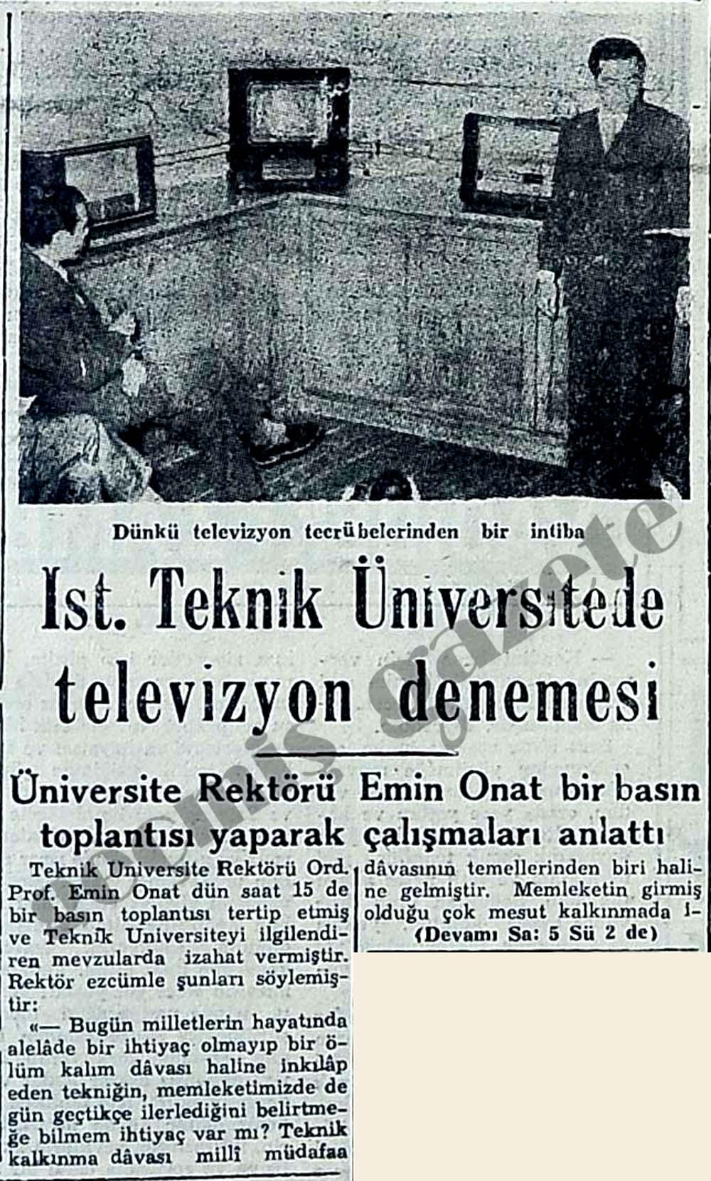 İstanbul Teknik Üniversitede televizyon denemesi